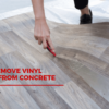 How to remove Vinyl flooring from concrete