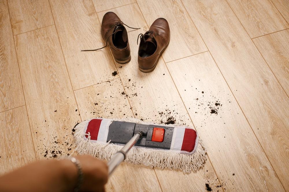 Prevent Footprints on Laminate Floors